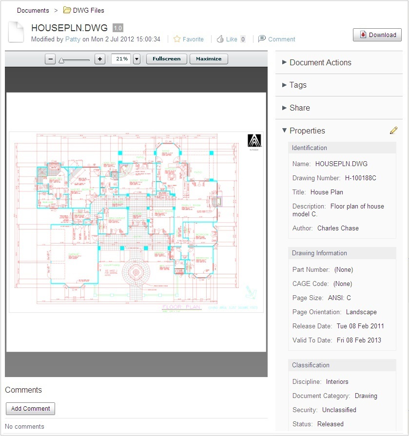 The EDM Module allows viewing of the drawing without AutoCAD